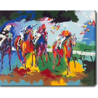 'Horse Riders' Oil on Canvas Art - Multi