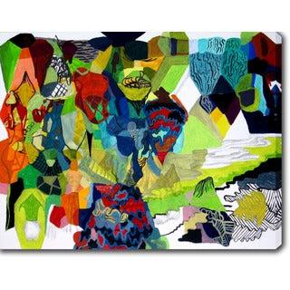 'Abstract' Oil on Canvas Art