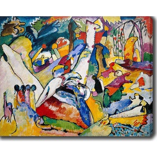 Wassily Kandinsky 'Study for Composition II' Oil on Canvas Art
