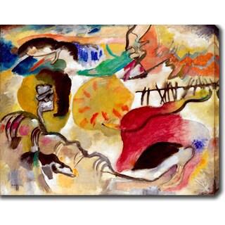 Wassily Kandinsky 'The Garden of Love' Oil on Canvas Art