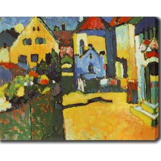 Wassily Kandinsky 'Grungasse in Murmau' Oil on Canvas Art