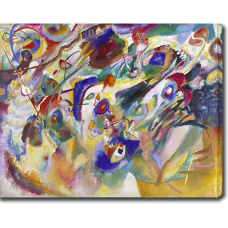 Wassily Kandinsky 'Composition VIII' Oil on Canvas Art