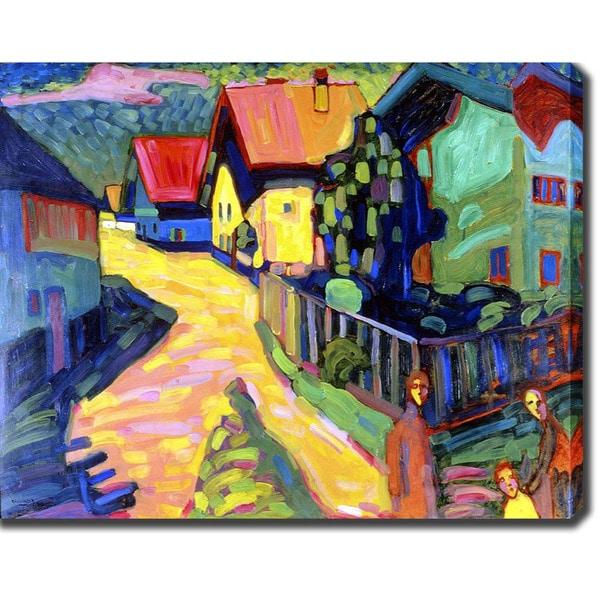 Shop Wassily Kandinsky 'Landscape' Oil on Canvas Art ...