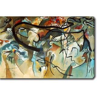 Wassily Kandinsky 'Composition V' Oil on Canvas Art