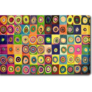 Wassily Kandinsky 'Squares with Concentric Circles' Oil on Canvas Art