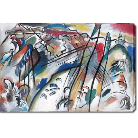 Wassily Kandinsky 'Improvisation 28' Oil on Canvas Art