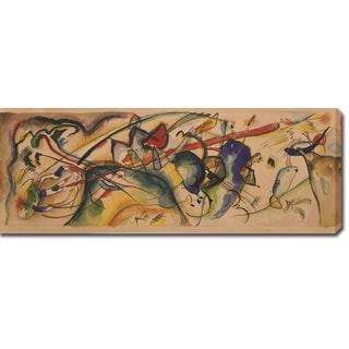 Wassily Kandinsky 'Painting with White Border Watercolor' Oil on Canvas Art