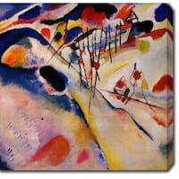 Wassily Kandinsky 'Winter Landscape' Oil on Canvas Art