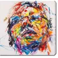 'Face' Oil on Canvas Art - Multi