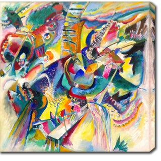Wassily Kandinsky 'Improvisation. Gorge' Oil on Canvas Art