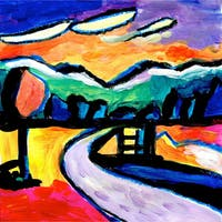 'Road' Oil on Canvas Art
