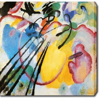 Wassily Kandinsky 'Improvisation' Oil on Canvas Art