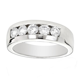 Platinum Men's 1ct Diamond Wedding Band by LUXURMAN