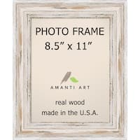 Alexandria Whitewash Photo Frame 8.5x11' 12 x 14-inch