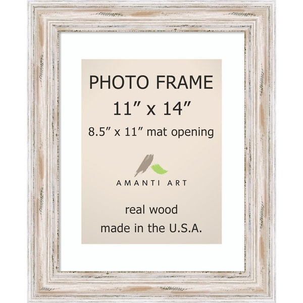 Shop Alexandria Whitewash Photo Frame 11x14, Matted to 8.5x11\' 14 x ...