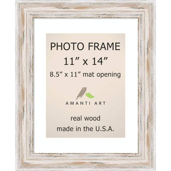 Alexandria Whitewash Photo Frame 11x14 Matted To 8 5x11