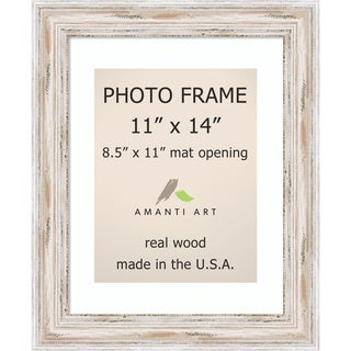 Alexandria Whitewash Photo Frame 11x14, Matted to 8.5x11' 14 x 17-inch