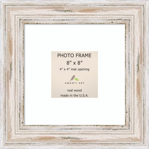 Alexandria Whitewash Photo Frame 8x8 Matted To 4x4 11 X