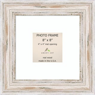 alexandria whitewash photo frame 8x8 matted to 4x4 11 x 11 inch