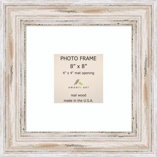 Alexandria Whitewash Photo Frame 8x8, Matted to 4x4' 11 x 11-inch
