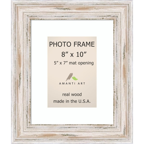 Shop Alexandria Whitewash Photo Frame 8x10 Matted To 5x7