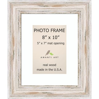Alexandria Whitewash Photo Frame 8x10, Matted to 5x7' 11 x 13-inch