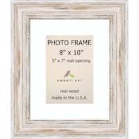 Alexandria Whitewash Photo Frame 8x10, Matted to 5x7' 11 x 13-inch