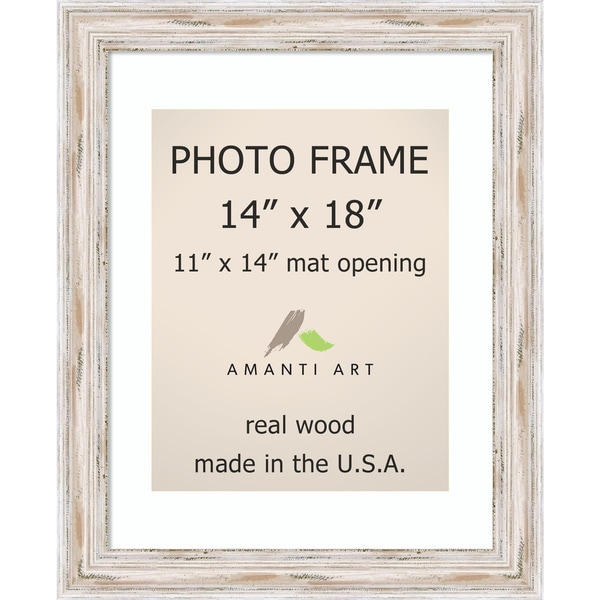 Shop Alexandria Whitewash Photo Frame 14x18 Matted To 11x14 17 X