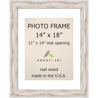 Alexandria Whitewash Photo Frame 14x18, Matted to 11x14' 17 x 21-inch