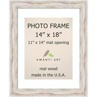 Alexandria Whitewash Photo Frame 14x18, Matted to 11x14' 17 x 21-inch