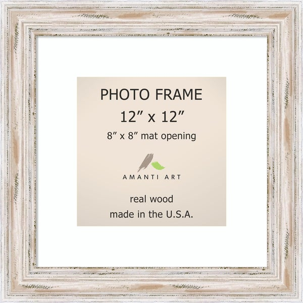 Shop Alexandria Whitewash Photo Frame 12x12 Matted To 8x8
