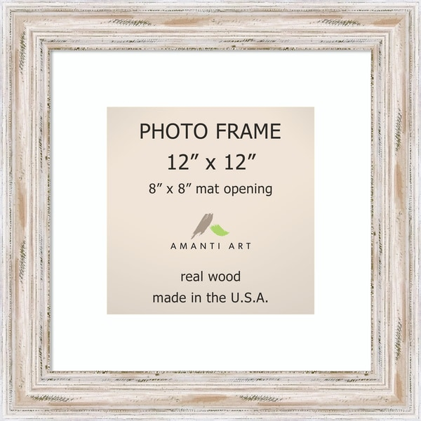 shop alexandria whitewash photo frame 12x12 matted to 8x8 39 15 x 15 inch free shipping today. Black Bedroom Furniture Sets. Home Design Ideas