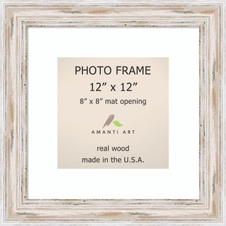 Alexandria Whitewash Photo Frame 12x12, Matted to 8x8' 15 x 15-inch