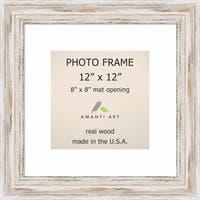 Alexandria Whitewash Photo Frame 12x12, Matted to 8x8' 15 x 15-inch