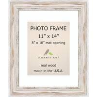 Alexandria Whitewash Photo Frame 11x14, Matted to 8x10' 14 x 17-inch