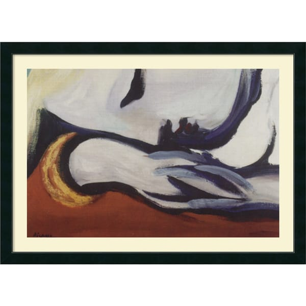 Framed Art Print 'Dreaming' by Pablo Picasso 43 x 31-inch