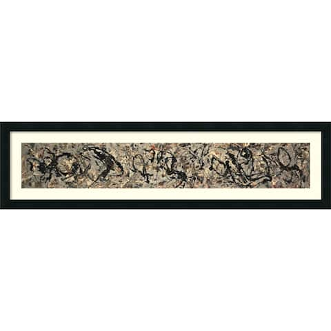 Framed Art Print 'Number 10, 1949' by Jackson Pollock 42 x 12-inch