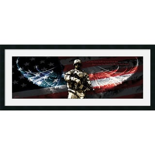 Jason Bullard 'No Greater Love (Gun)' Framed Art Print 42 x 18-inch