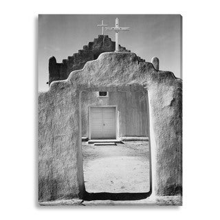 Gallery Direct Ansel Adams 'Church, Taos Pueblo, New Mexico, 1942' Gallery Wrapped Canvas