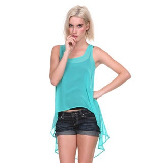 Stanzino Women's Chiffon High-low Tank Top