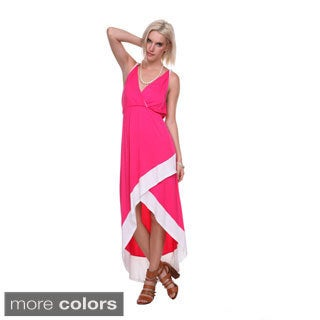 Stanzino Women's Asymmetric Hem Colorblock Long Dress