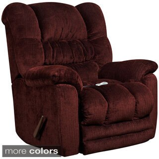 Offex Massaging Temptation Microfiber Recliner with Heat Control