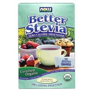 Now Foods Better Stevia Zero Calorie Sweetener (75 Packets)