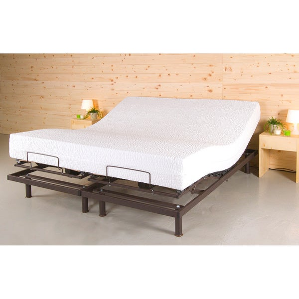 T Motion 10 Inch King Size Adjustable Bed Set With 10 Inch