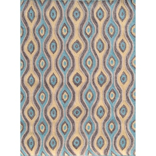Nazar Brown Hand-hooked Brown Area Rug (5' x 8')