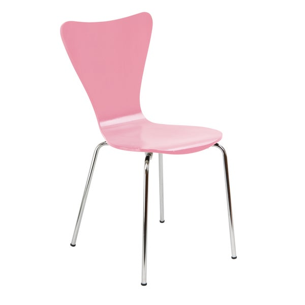 Legare Bent Ply Pink Finish Chair by Legare