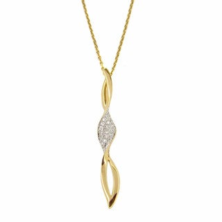 Kabella 14k Rose and Yellow Gold 1/6ct TDW Diamond Accent Swirl Necklace (G-H, SI1-SI2)