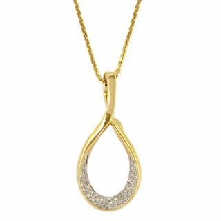 Kabella 1/8ct TDWDiamond Accent Swirl Necklace (G-H, SI1-SI2)