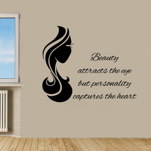 Shop Beauty Quote Girl Power Black Vinyl Sticker Wall Art - Free ...