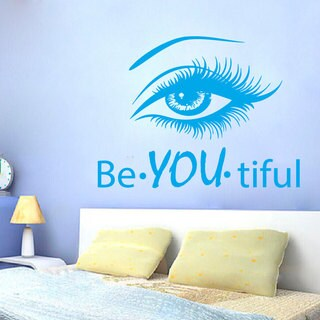 B You Tiful Beauty Spa Hair Salon Decor Blue Sticker Vinyl Wall Art